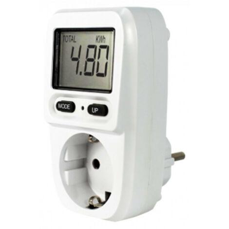 Compteur d'électricité C-0620c 3680w maximum avec écran LCD et calcul des coûts