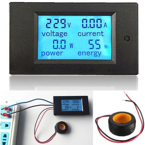 Compteur d'énergie ELE 100A AC Digital LED Panneau de Contr?le de la Consommation d'énergie Moniteur d'alimentation d'énergie