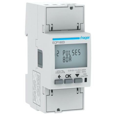 Compteur mono direct 80A 2M S0 MID (HAG ECP180D)