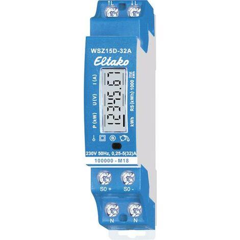Compteur d'énergie monophasé Eltako WSZ15D-32A MID 28032015 numérique 32 A conformité MID: oui 1 pc(s) Q857132