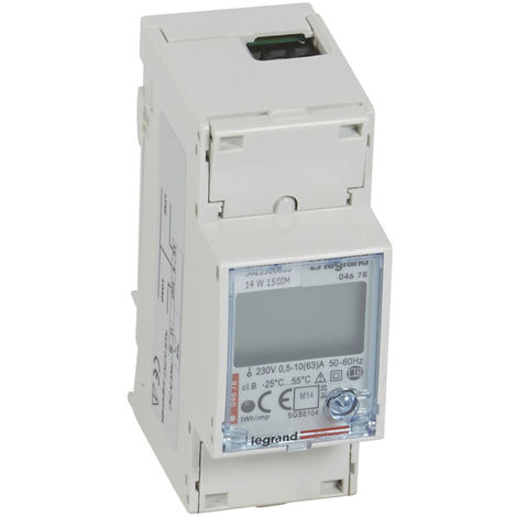 Compteur d'énergie monophasé EMDX³ - MID - raccdt direct 63 A - 2 mod