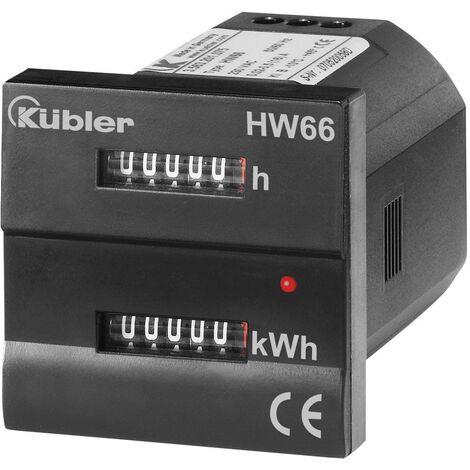 Compteur d'énergie monophasé mécanique Kübler HW66 M 230 VAC 16 A conformité MID: oui Q52531