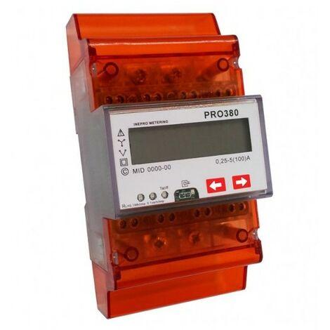 Compteur d'énergie tri/tetra à mesure directe - 100A - 230V