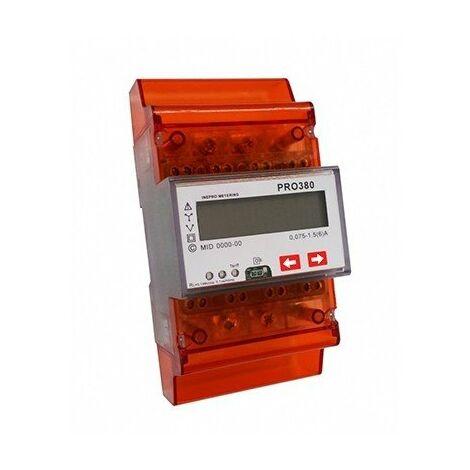 Compteur d'énergie tri/tetra à mesure directe - 5A pour TC - 230V - Mbus
