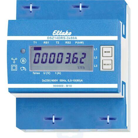 Compteur dénergie triphasé Eltako DSZ14DRS-3x80A MID 28365715 numérique 80 A conformité MID: oui 1 pc(s)