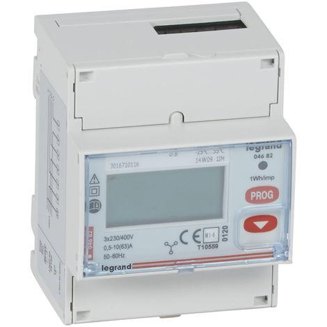 Compteur d'énergie triphasé EMDX³ - MID - raccdt direct 63 A - 4 mod