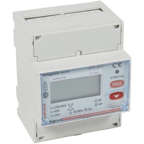 Compteur d'énergie triphasé EMDX³-non MID-raccdt TI 5A-4mod - sort RS485
