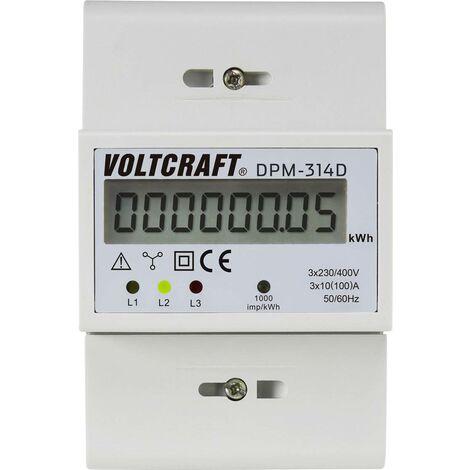 Compteur d'énergie triphasé numérique 100 A VOLTCRAFT DPM-314D conformité MID: non 1 pc(s) Y681961