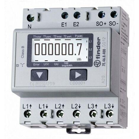 """main image of """"Compteur d'énergie triphasé numérique Finder 7E.46.8.400.0012 65 A conformité MID: oui Q53156"""""""