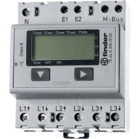 Compteur d'énergie triphasé numérique Finder 7E.46.8.400.0032 65 A conformité MID: oui Q53310