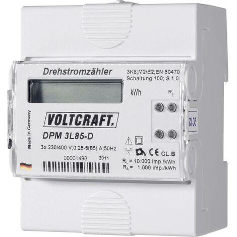 Compteur dénergie triphasé numérique VOLTCRAFT DPM 3L85-D 85 A conformité MID: non