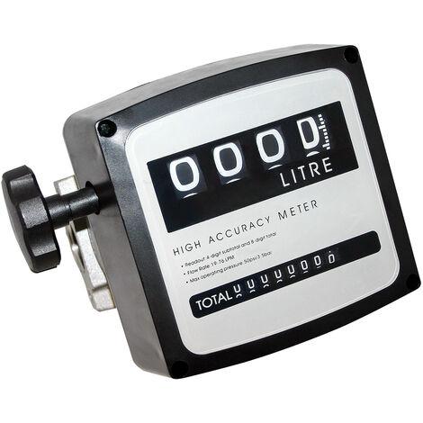 """Compteur diesel ou à fuel 3 bar 19-120l/min Raccords 1"""""""" pour pompe Diesel/fuel"""