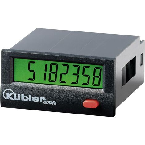 Compteur d'impulsions Codix 130 HB Kübler 6.130.012.862 Dimensions encastrées 45 x 22 mm 4 - 30 V/DC / PNP 12 kHz / NPN 30 Hz 1 pc(s) Q59777