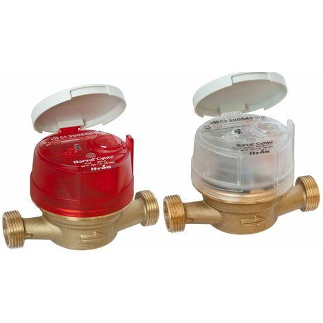 Compteur eau divisionnaire Narval Cyble - Calibre 15 mm - Version eau froide - Filetage 20/27 - coiffe grise