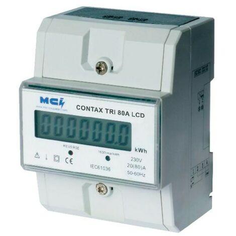 Compteur électrique Contax D triphasé - 80A - LCD