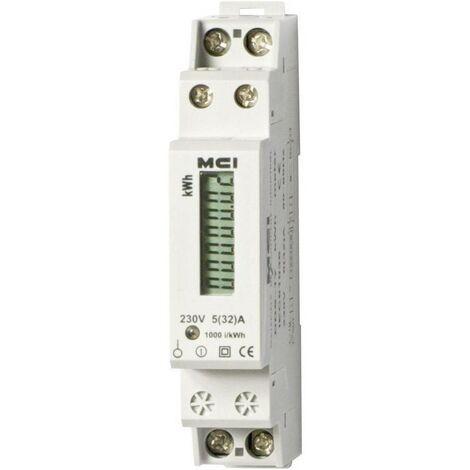 Compteur Electrique Monophasé, 32A/6 kWh, Branchement Direct Affichage Mécanique ou LCD