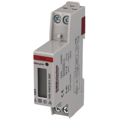 Compteur électrique monophasé 45A, affichage digital