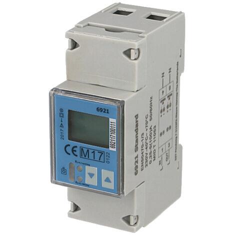 Compteur électrique monophasé multifonction 100A, certifié MID