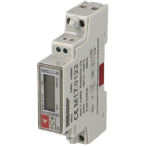 Compteur électrique monophasé multifonction 45A, certifié MID
