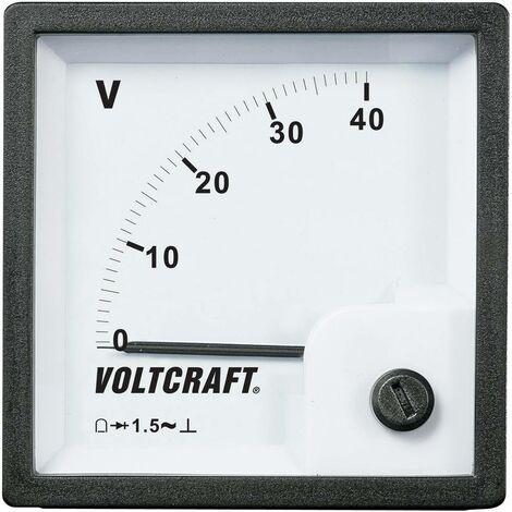 Compteur encastrable analogique bobine Volcraft AM-72x72/40V