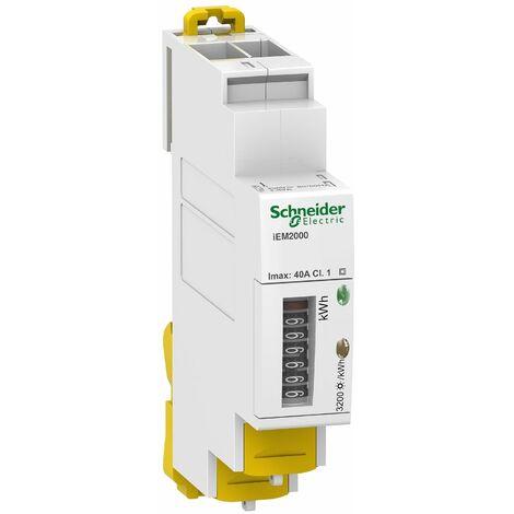 Compteur énergie monophasé 40A, Schneider Electric réf. A9MEM2000