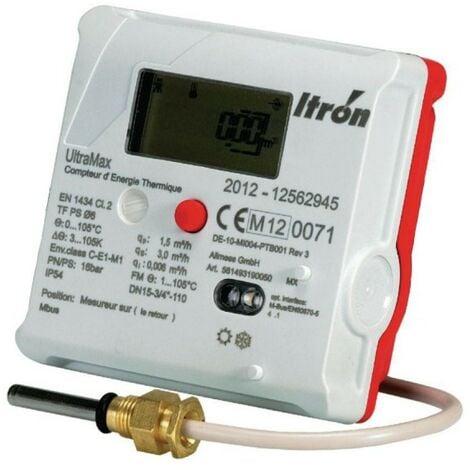 Compteur énergie thermique ultrason Ultramax - Calibre 15 - 20 x 27 - Débit 3 m³/h