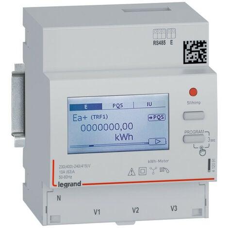 Compteur energie tri direct 63a 230-400v double tarif rs485 (412091)