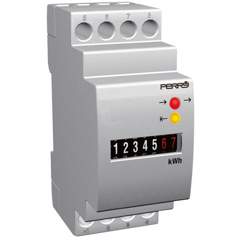 Compteur horaire 2 DIN 230V - Perry