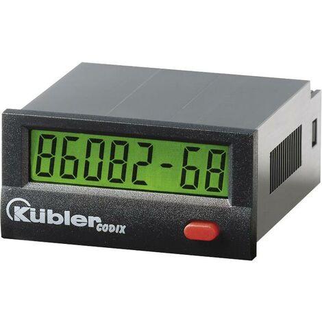 Compteur horaire électronique LCD 99999h59m/ 99999.99 h dimensions 45 x 22 mm Kübler CODIX 134 Q59778