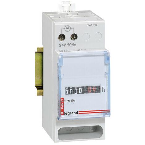 Compteur horaire totalisateur modulaire affichage numérique 24V~ 50Hz 2 modules (004691)