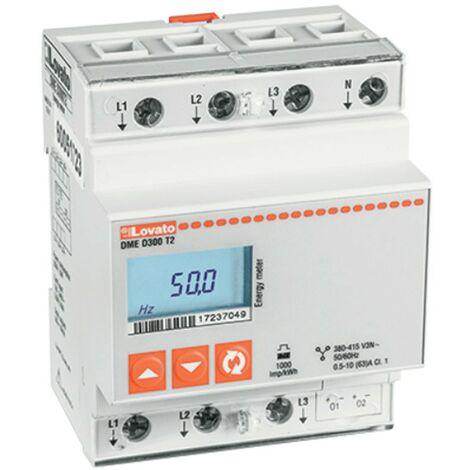 Compteur LOVATO énergie numérique triphasé avec neutre DMED300T2