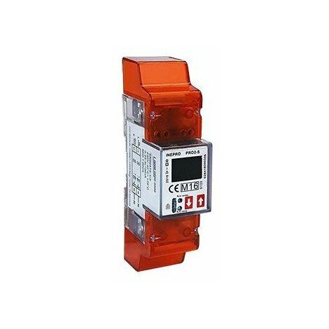 Compteur modulaire - Monophasé - 100A - Double tarif - Affichage LCD