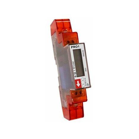 Compteur modulaire - Monophasé - 45A - Modbus - Affichage LCD