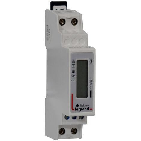 Compteur modulaire monophasé EMDX3 MID raccordement direct 45A 1 module avec sortie à implusions (412069)