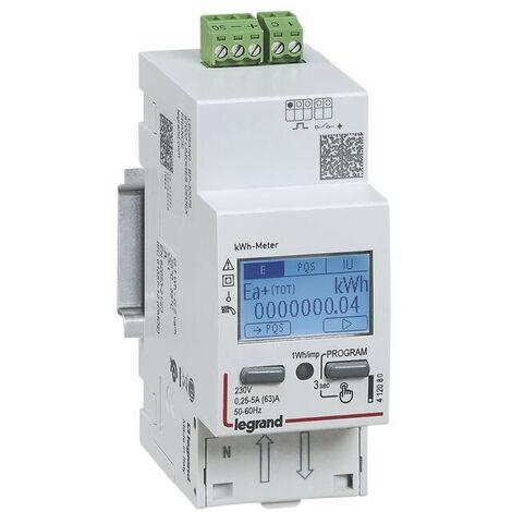 Compteur modulaire monophasé EMDX3 non MID raccordement direct 36A 2 modules avec sortie à impulsions