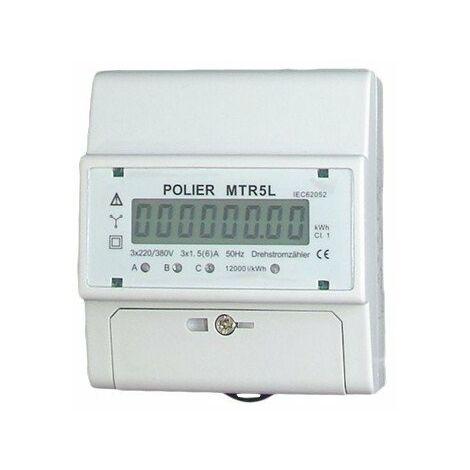 Compteur modulaire - Tétra - 5A pour TC - Affichage LCD