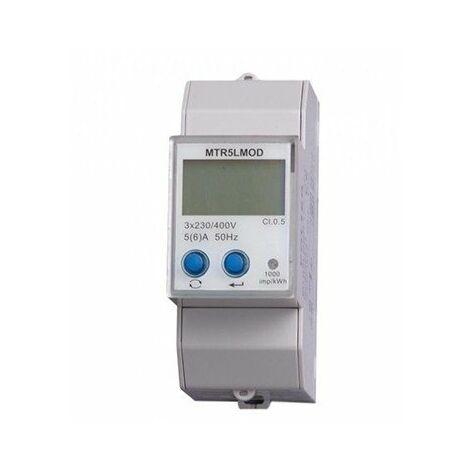 Compteur modulaire - Tétra - 5A pour TI - Modbus - Affichage LCD