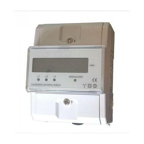 Compteur modulaire - Tétra - 80A - Affichage LCD