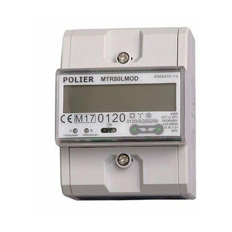 Compteur modulaire - Tétra - 80A - Modbus - Affichage LCD