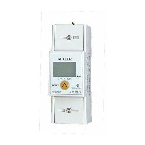 Compteur pour le suivi de consommation - Monophasé - 80A - Affichage LCD