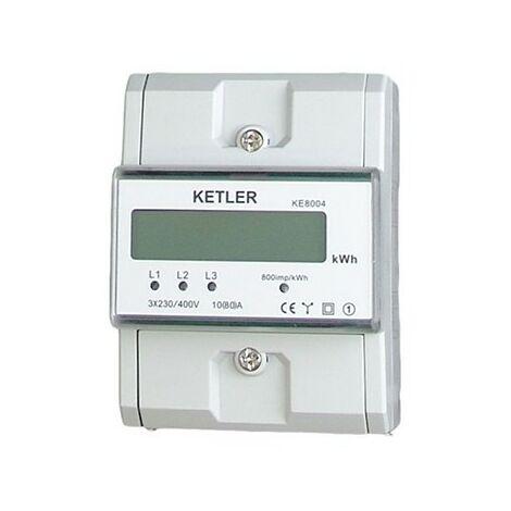 Compteur pour le suivi de consommation - Tétra - 80A - Affichage LCD