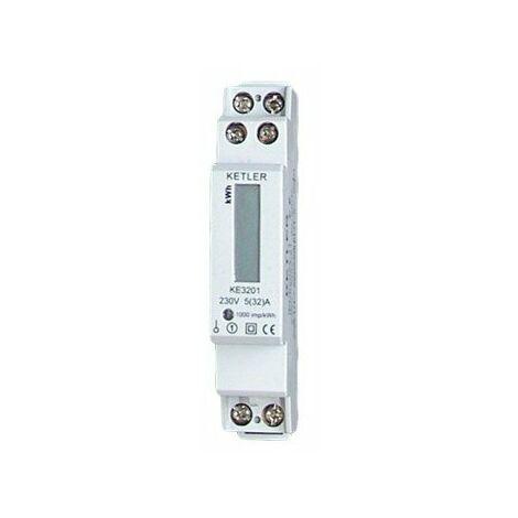 Compteur pour refacturer l'électricité - Monophasé - 45A - Affichage LCD