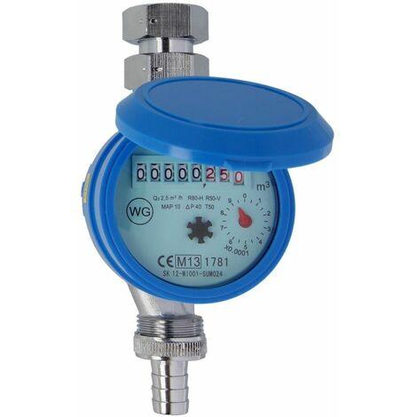 """Compteur pour robinet distributeur Q3 2,5m³/h - G 3/4"""" - 110 mm"""
