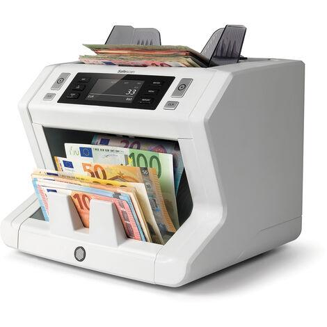 Compteuse de billets de haute technologie Safescan 2665-s pour les gros volumes de billets avec logiciel MCS gratuit, affichage LCD à un rythme de 1500 billets par minute