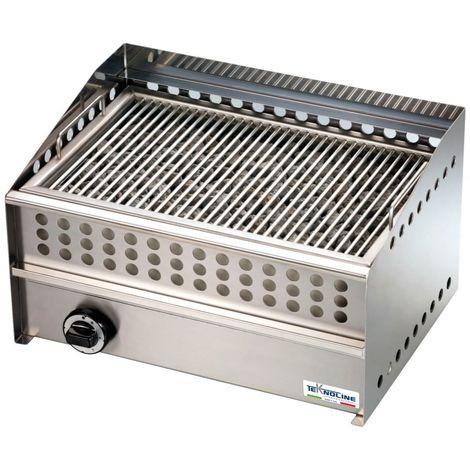 Comptoir à gaz en pierre de lave grill cm 54x39x31 teknoline GPL100