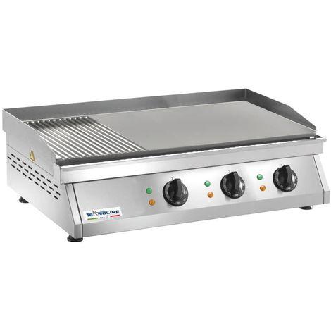 Comptoir de friture 9000W lisse et rayé cm 84x50x20 teknoline FRT3M
