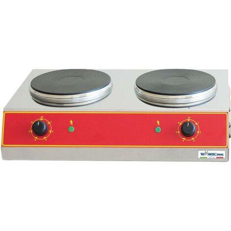 Comptoir en pin avec 2 plaques chauffant cm 60x40x16 teknoline PCE22+22