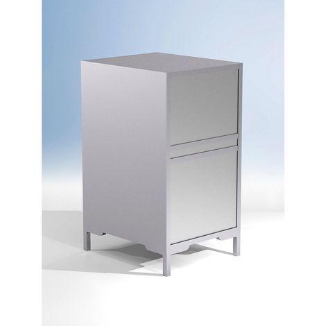 Comptoir modulaire LINK - fermé, largeur 500 mm - h x p 900 x 600 mm - Coloris corps: argenté