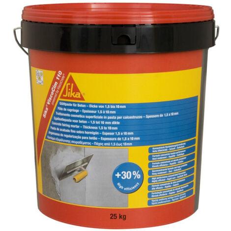 Compuesto para nivelar paredes de 1,5 a 10 mm de espesor - SIKA ViscoCim 110 - Gris claro - 25kg