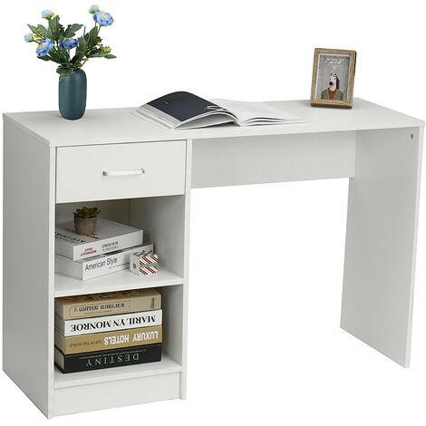 Computer Desk Wooden Workstation 109x40x74cm White